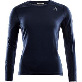 Aclima LightWool Sportshirt Dames, navy blazer